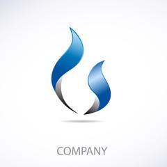 Logo natural gas 3d # Vector