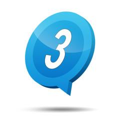 Icono 3d numero 3