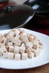 tofu fried meat