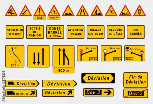 """Beliebt Panneaux de signalisation temporaire"""" fichier vectoriel libre de  OF57"""