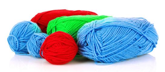 Knitting needles on white