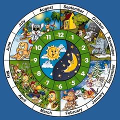 Clock Face - Cartoon Illustration