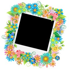 Fotografia Sfondo Floreale-Photo Floral Background-Vector