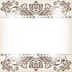vector abstract vintage floral  background