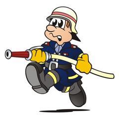 Firefighter running