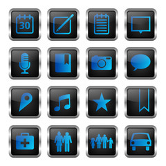 blue icon set 2 (16 icons)