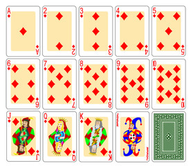cards diamonds set