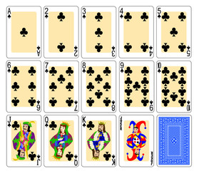 cards clubs set
