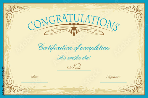 Certificate template stock image and royalty free vector files on certificate template yadclub