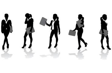 business women with folders