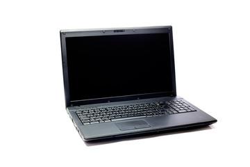 black laptop isolated on white