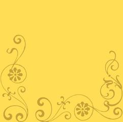 floraler Hintergrund, Rahmen Blumen abstrakt