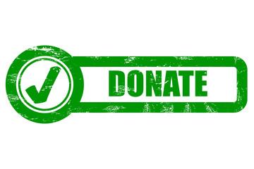 Grunge Checkbox grün DONATE