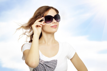 young lady with sunglasses