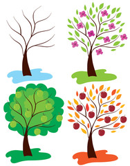 vector apple trees