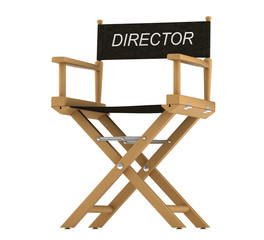 Action: directors chair isolated on white