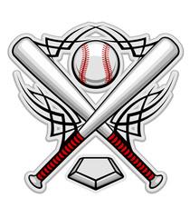 Color baseball emblem