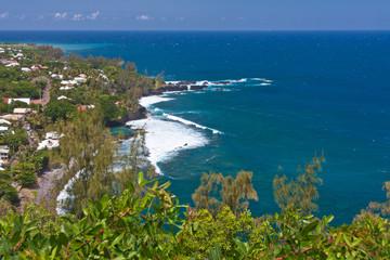 côte rocheuse Manapany, île de la Réunion