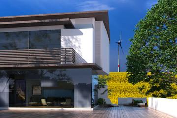 Villa und regenerative Energie