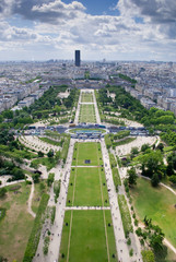 View from top of Eiffel Tower - Champ de Mars