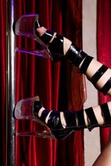 Legs of a stripper