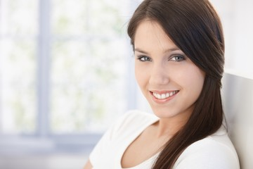 Portrait of attractive happy woman