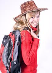 beautiful girl in a cowboy hat ......