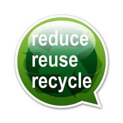 Pegatina globo reduce reuse recycle