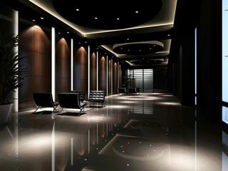 hotel hall rendering