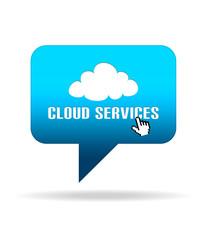 Cloud Services Speech Bubble