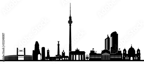 berlin skyline stock image and royalty free vector files on pic 33248087. Black Bedroom Furniture Sets. Home Design Ideas