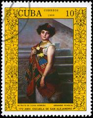 CUBA - CIRCA 1988 Elena Herrera