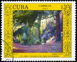 CUBA - CIRCA 1988 Landscape