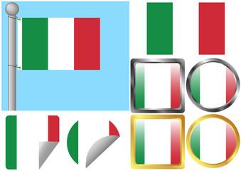 Flag Set Italy