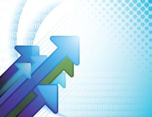 Abstract Blue Digital Arrow