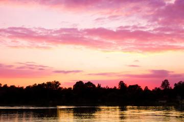 Twilight Landscape Clouds