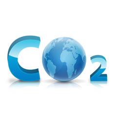 Simbolo CO2 con planeta tierra