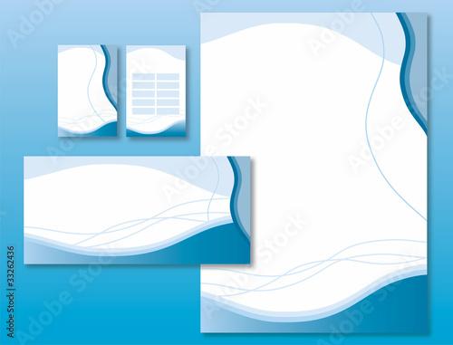 Charte Graphique Vagues Bleues