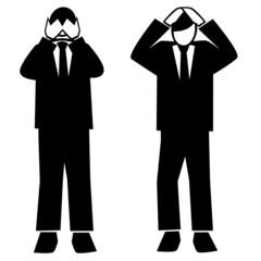 Symbolised business simple-frustration