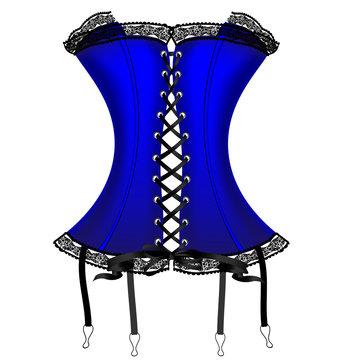 lady's blue corset