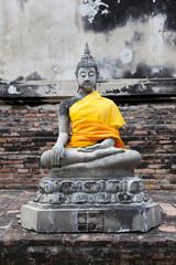 The Chedi in Wat Yai Chai Mongkon in  thailand.