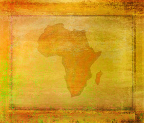 grunge abstract illustration of the continent Africa