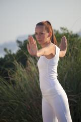 woman doing sport outdoor