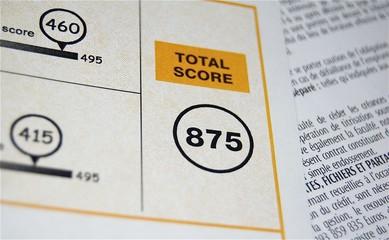 Score du TOEIC, le test d'anglais international