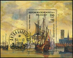 MALAGASY - CIRCA 1988 Ships