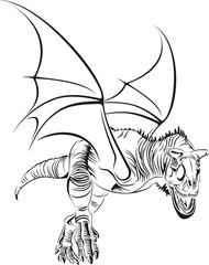 Geflügelter Raptor / Tribal