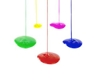 Image flowing vibrant paints