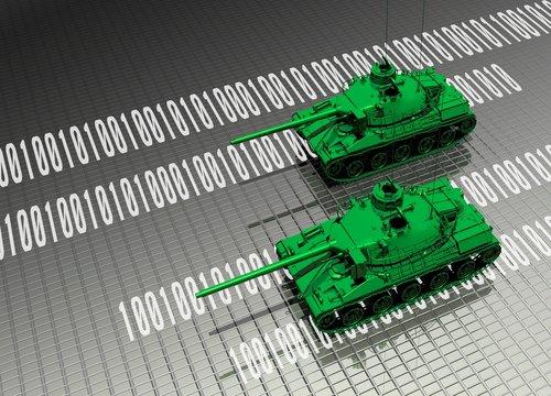 Virtual tanks attacking computer data