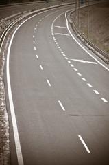 empty asphalt highway