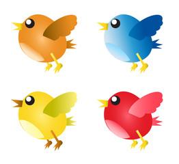 Vogel Cartoon Vektor